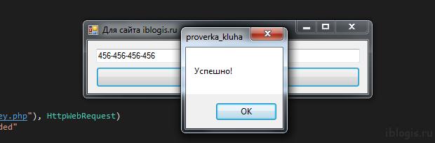 Проверка ключа программа